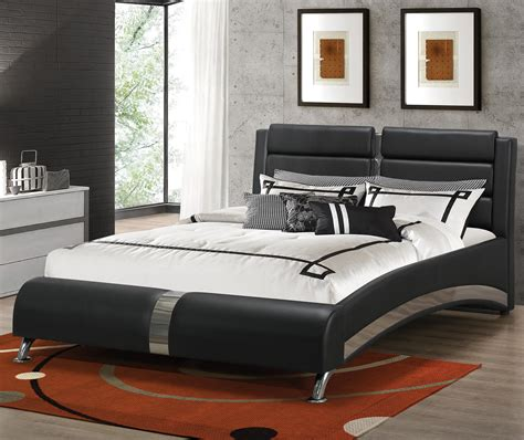 coaster furniture beds coaster furniture 300350q black queen bed