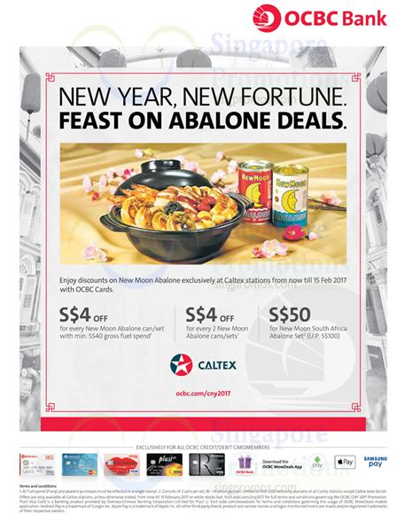 ocbc new year promotion new moon abalone treats at caltex stations for ocbc