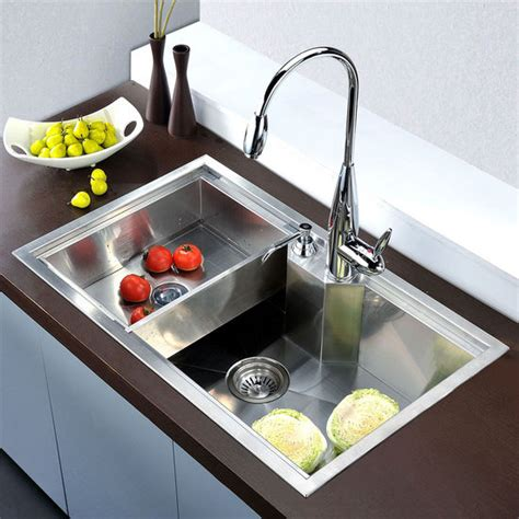 Square Undermount Kitchen Sink Sinks Undermount Square Single Bowl Kitchen Sink 18 Satin 30 3 4 W X 18 7 8 Quot D X 9