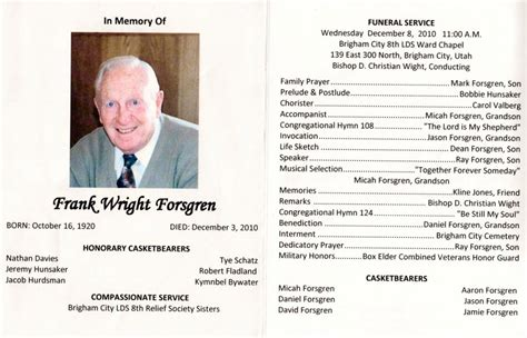 free funeral program template for word funeral brochure template word how to make a funeral