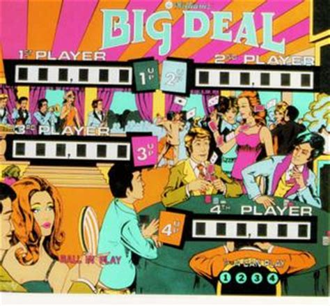 Big Deals On Big Names by Big Deal Pinball By Williams Electronics Inc 1967 1985