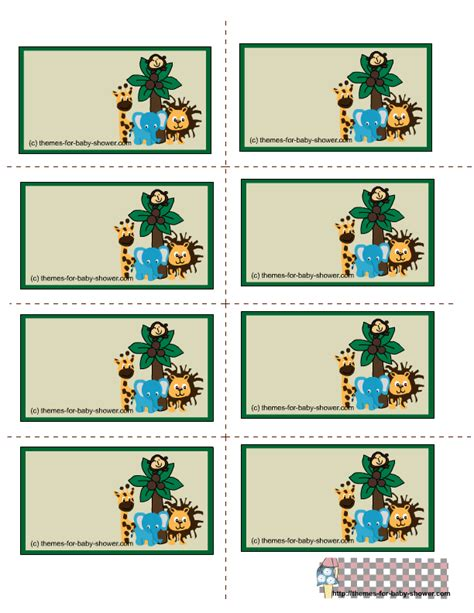 printable jungle animal labels free printable safari baby shower labels