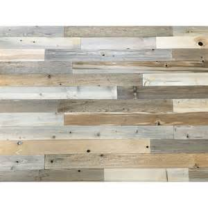 stick on wood wall peel and stick reclaimed natural wood 3 inch planks