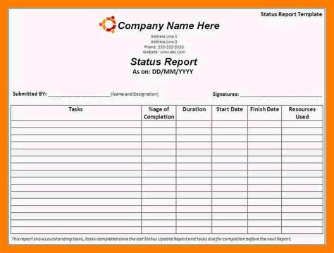daily status report template xls 7 daily status report template teller resume