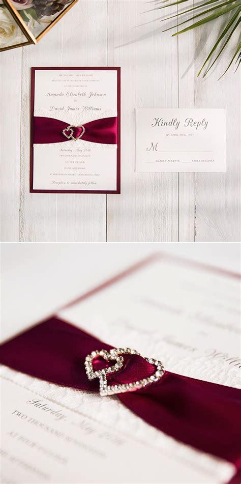 White And Burgundy Wedding Invitations burgundy wedding colors stylish wedd