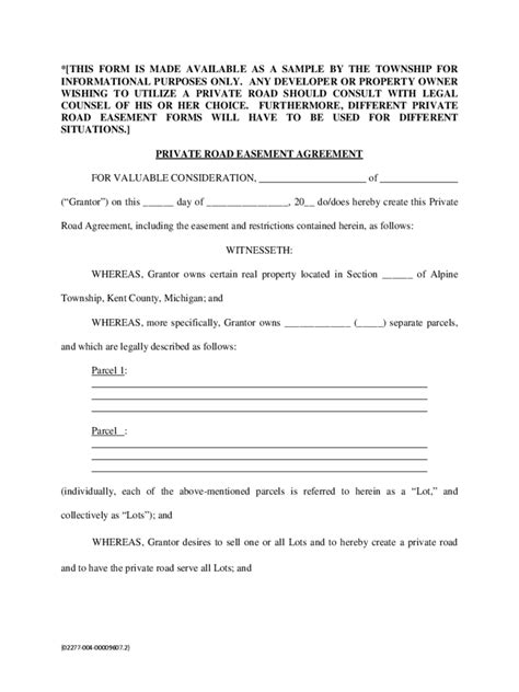 driveway easement agreement form 4 free templates in pdf