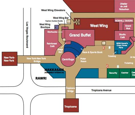 mgm grand map map of mgm grand las vegas virginia map