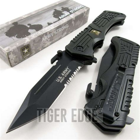 us army knives us army strong black tanto serrated tactical