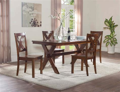 5pc x back dining set