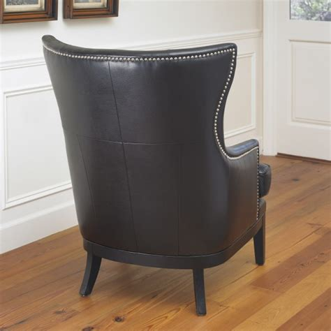 contemporary bonded leather wingback chair mission hills contemporary bonded leather wingback chair mission hills