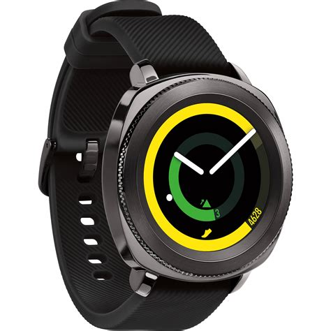 R Samsung Gear Samsung Gear Sport Black Sm R600nzkaxar B H Photo