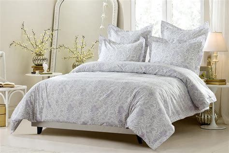 lavender comforter sets 5pc lavender grey floral duvet cover set style 1027