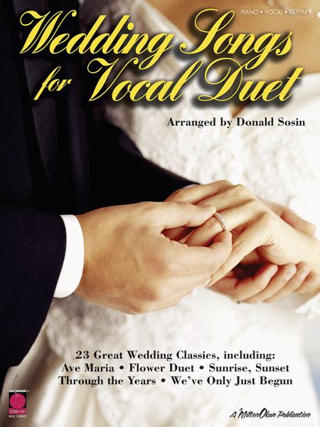 Wedding Songs Duets wedding songs for vocal duet sheet by various