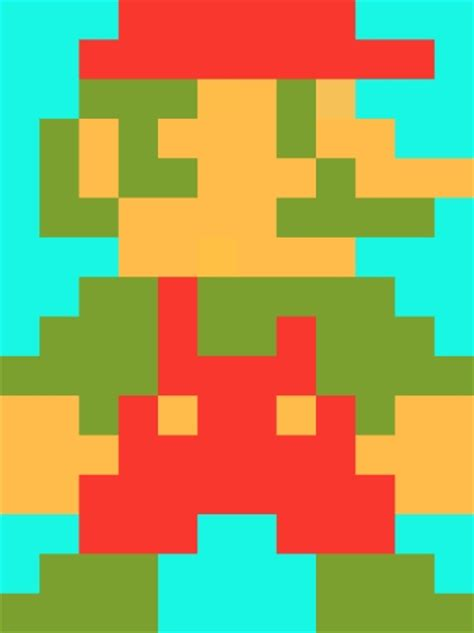 pixelated mario characters mario pixelated by worldwideimage on deviantart