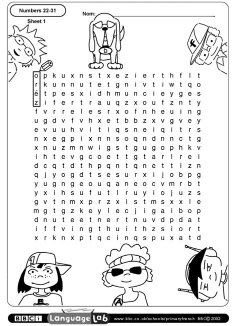french numbers 1 20 printable worksheets primary french printable worksheet