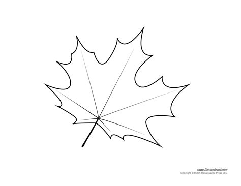 Leaf Template by Tim De Vall Comics Printables For