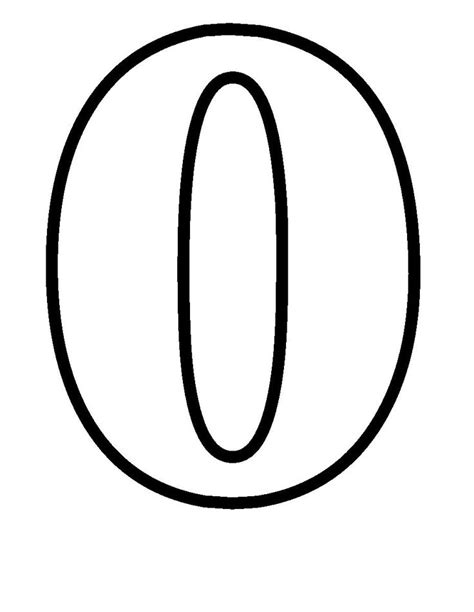 coloring pages for zero simple numbers zero simple numbers pinterest simple