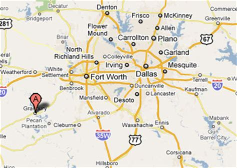 where is granbury texas on map sighting reports 2007