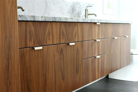 mid century modern cabinet handles bathroom reno update mid century modern inspired cabinet