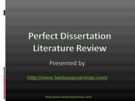 Dissertation Literature Review by Dissertation Literature Review