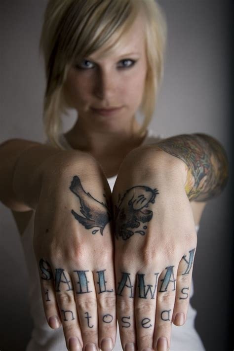 tattoo girl riesling 17 best images about knuckle tattoos on pinterest