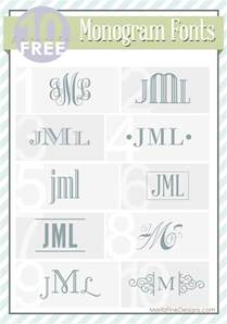 top 10 free monogram fonts moritzfineblogdesigns com