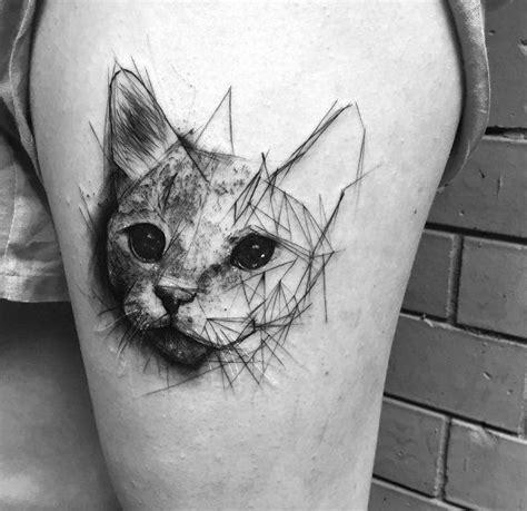 cat tattoo upper leg 310 best thigh tattoos images on pinterest tattoo ideas