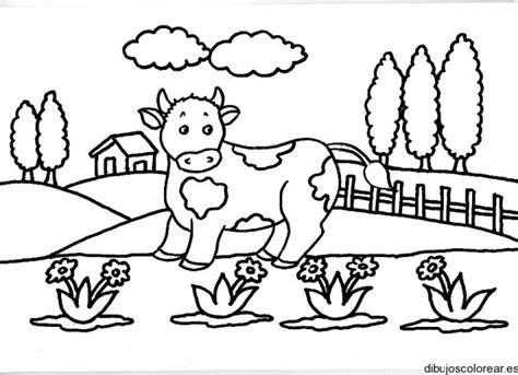 imagenes de paisajes rurales para colorear paisajes con vacas dibujos para imprimir y colorear