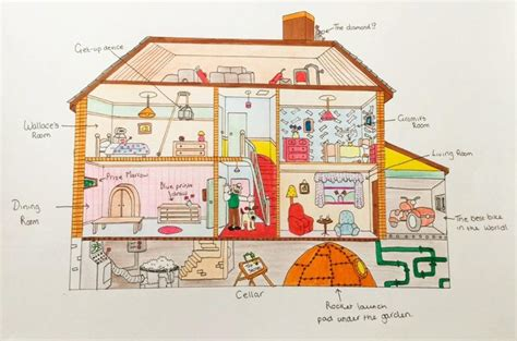 House Layout Design by Wallace And Gromit S House Wallace And Gromit