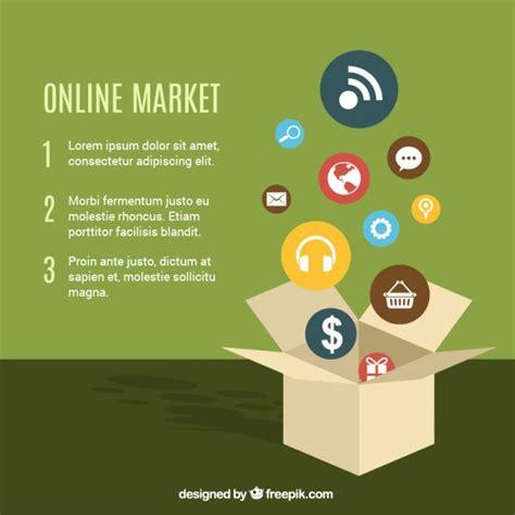 online market template vector free download