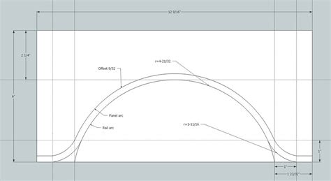 Making Cathedral Arch Templates For Cabinet Doors Using