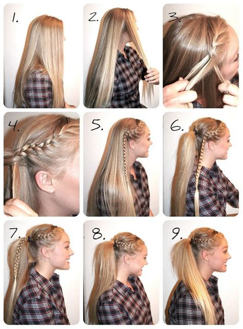 how to style hair for track and field 17 best ideas about high ponytail tutorial on pinterest