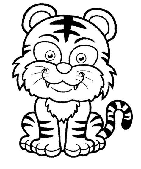 gambar mewarnai macan loreng kartun murid
