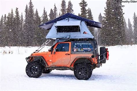 jeep tent 2 door tim elder has a tent topped jeep setup cing