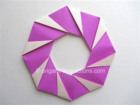 Modular Origami Wreath - 17 best images about origami tags on