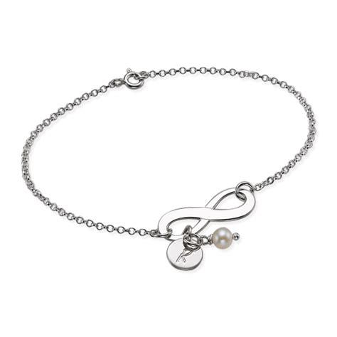Allée En Gravier 4360 by Silber Infinity Armband Mit Initiale Und S 252 223 Wasserperle