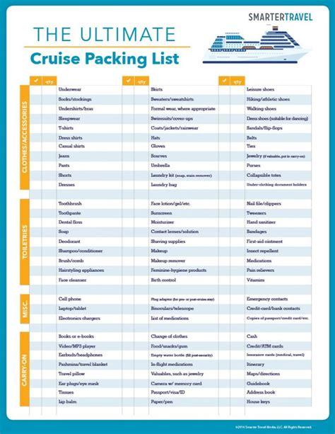 printable cruise packing list freebie finding