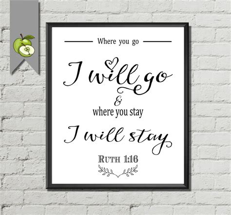 Wedding Poems Bible Verses by Bible Verse Wedding Sign Where You Go I Will Go Ruth 1 16