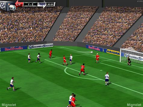 soccer game breakdown find out which soccer game is the best sociable soccer screenshots show game in progress