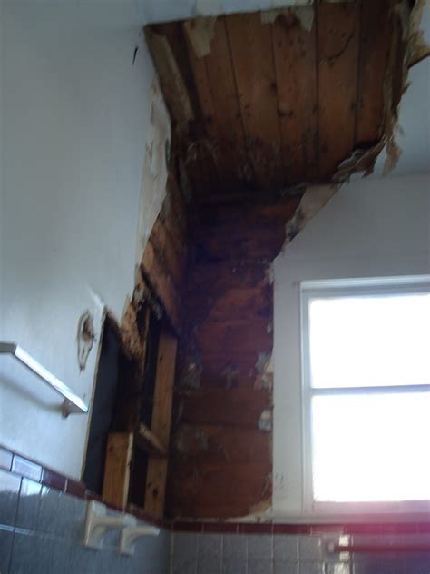 bathroom leak to downstairs ceiling 1800 s house renovations more before pictures