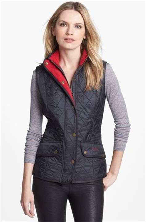 barbour cavalry quilted vest in blue navy lyst