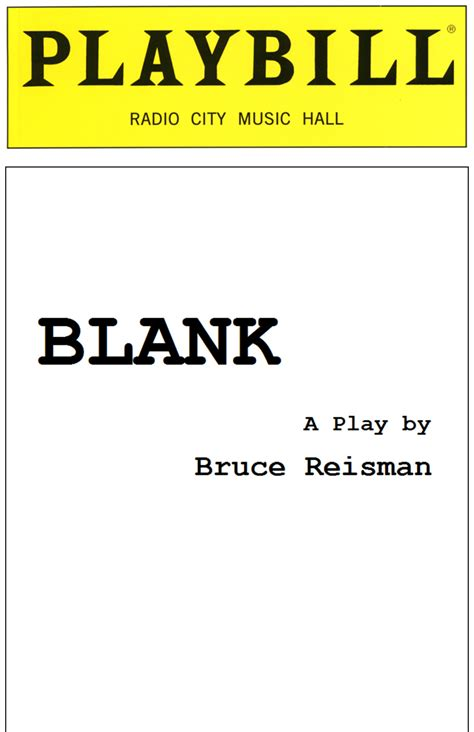 print your own papes blank journal and broadway musical gift books playbill template playbestonlinegames