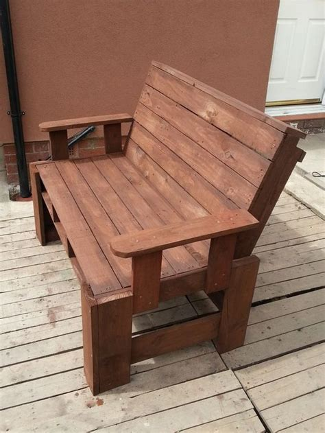 garden bench made from pallets 20 ideas for pallet patio furniture pallet ideas