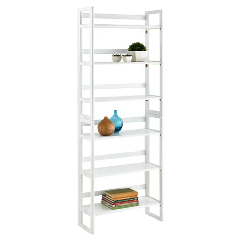 white folding bookcase folding bookcase white folding wood bookcase stackable