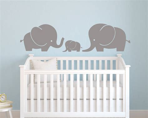 Elephant Wall Decal Nursery Wall Decal Baby Nursery Elephant Wall Decal For Nursery