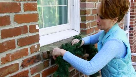 how to hang christmas lights on brick wall how to hang garland on brick ehow