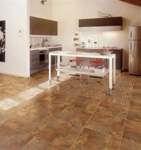 Porcelain Kitchen Floor Tiles Porcelain Floor Tile In Kitchen Modern Kitchen Other Metro By Tiles Unlimited Inc
