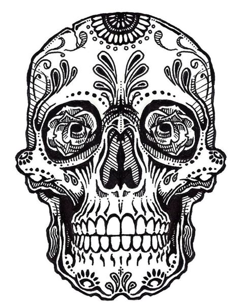 coloring pages mexican skulls drawings sugar skull