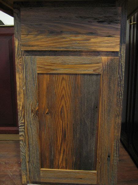 Rustic Cabinet Doors Barnwood Kitchen Cabinets Benedict Antique Lumber And