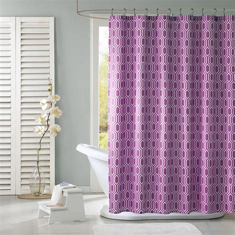 kids shower curtains kohls intelligent design lexie fabric shower curtain purple